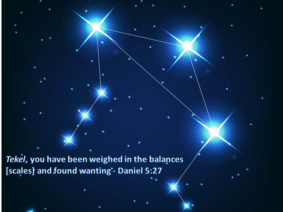 The Stars Tell how YHVH will Weigh Us in the Balance Scales