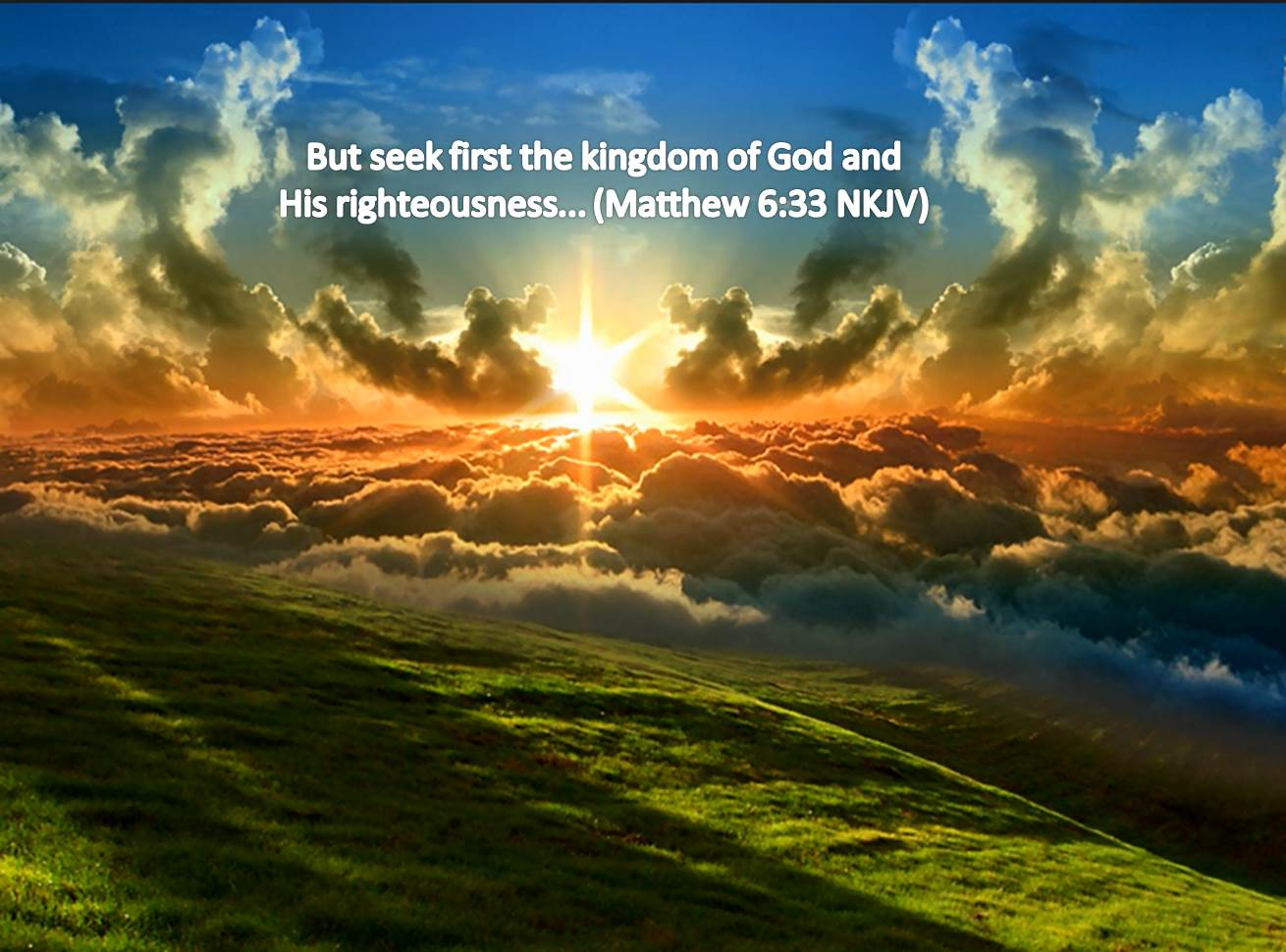 Seek First the Kingdom of God [Elohim]